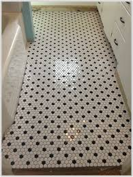 black and white bathroom floor tile hexagon thedancingparent