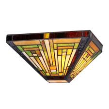 style stained glass mission 1 light wall sconce 12 wide