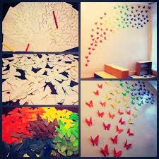 Diy Wall Butterflies Decorate Your Room With These Cute On