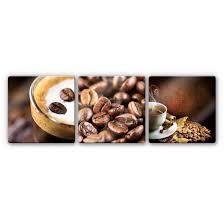 glasbild coffee set 3 teilig