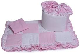 Amazon Baby Doll Bedding Gingham Cradle Bedding Set Pink