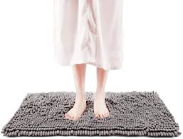 freshmint chenille badteppich weich flauschig und saugfähig mikrofaser rutschfest für badewanne badezimmer duschmatte maschinenwaschbar