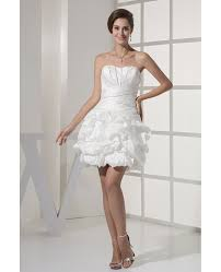 reception short wedding dresses strapless simple beaded taffeta