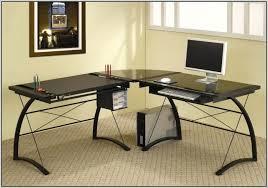 desk techni mobili l shape wood and metal computer workstation