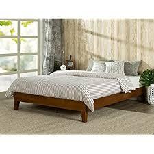 amazon com murray platform bed with wooden box frame mahogany