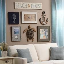 Beach Wall Decor Ideas Coastal Inspired Living Room Modern