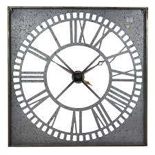 Wayfair Decorative Wall Clocks by Home Design Large Square Metal Wall Clocks Modern Compact The