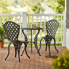 3 Piece Bar Height Patio Bistro Set by Bar Height Patio Dining Furniture Patio Furniture The Home Depot