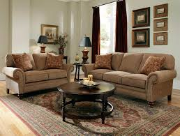 Broyhill Emily Sofa Set by Golden Brown By Broyhill