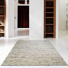web teppich reine schur wolle im skandinavischen design wohnzimmer esszimmer schlafzimmer flur läufer grau beige kiesel 60 x 110 cm