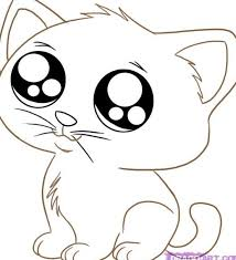 Cute Animals Coloring Pages Cat