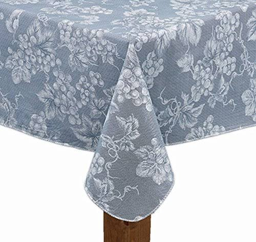 Lintex Light Blue Grapevine Vinyl Tablecloth (52x52 Square)
