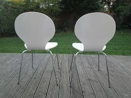 2 moderne weiße stühle büro wohnzimmer esszimmer küche