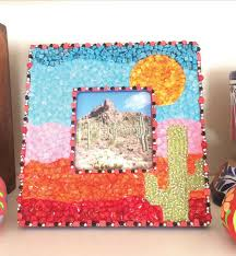DIY Picture Frame With Mosaic Tiles