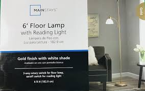 Mainstays Floor Lamp With Reading Light by Mainstays Gold Floor Lamp With Reading Light 72
