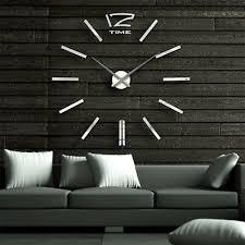 design wand uhr wohnzimmer wanduhr spiegel edelstahl