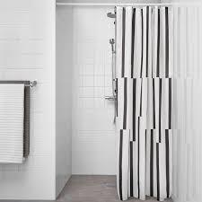 kinnen duschvorhang weiß schwarz 180x200 cm