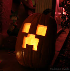 Minecraft Growing Pumpkins by Deelicious Sweets Pumpkin Carving And Seed Roasting