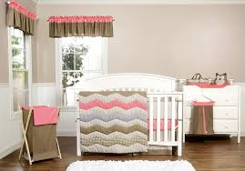 Coral And Mint Crib Bedding by Amazon Com Trend Lab Cocoa Coral 3 Piece Crib Bedding Set Coral