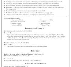 How To Write A Resume For Teaching Job Sample Of