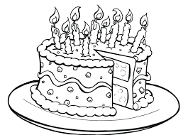 Birthday Cake Coloring Pages Frozen Page Card Online Preschool Full Size