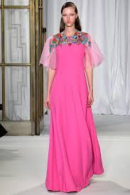Model Walks On The Runway During Delpozo Fashion Show At London Womenswear Fall Winter 2018