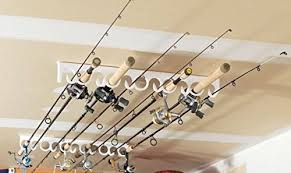 ceiling mount fishing rod holders