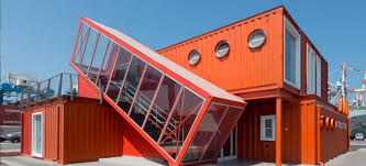 100 Houses Built With Shipping Containers 7 Bright Red Shipping Containers Repurposed As Modern Offices In Israel