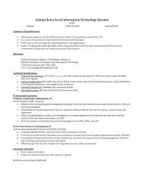 Help Desk Resume Examples Beautiful Information Technology Entry Level Samples Student Sample No Experience