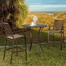 3 Piece Bar Height Patio Bistro Set by Pub Height Bistro Set Foter
