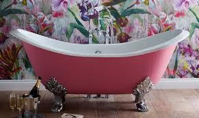 casa padrino luxus jugendstil badewanne rosa weiß silber 180 x 77 x h 79 cm gebogene freistehende gusseisen badewanne barock jugendstil