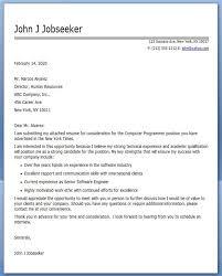 Computer Programmer Cover Letter Sample
