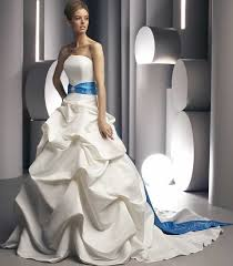 colored wedding dresses from bridal fashion week sleeveless