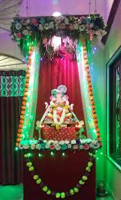Varalakshmi Vratham Decoration Ideas by 19 Best Beautiful Ganesh Chaturthi Decoration Images On Pinterest