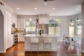 contemporary kitchen with ceiling fan l shaped in san diego ca
