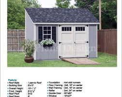 8x10 Shed Plans Materials List by 8 U0027 X 10 U0027 Garden Storage Lean To Shed Plans Blueprints Material