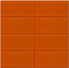 Vapor Light Blue Glass Subway Tile by Bright Orange Glass Subway Tile In Poppy Modwalls Designer Lush