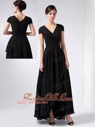 Brand New Black A Line V Neck Sequins Mother Of The Bride Dress Ankle