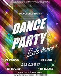 Night Dance Party Poster Background Template Festival Vector Mockup DJ Design