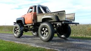100 Country Boy Trucks 1955 Ford Monster Truck Burnout Smoking 5 Foot Tractor Tires Off In