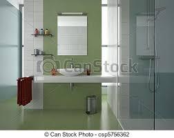 modernes grünes badezimmer das zeitgenössische badezimmer