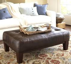 Coffee Table Pottery Barn Appealing Leather Ottoman About Remodel Home Designing Inspiration