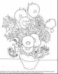 Vincent Van Gogh Coloring Pages For Kids With Coloring Pages Van