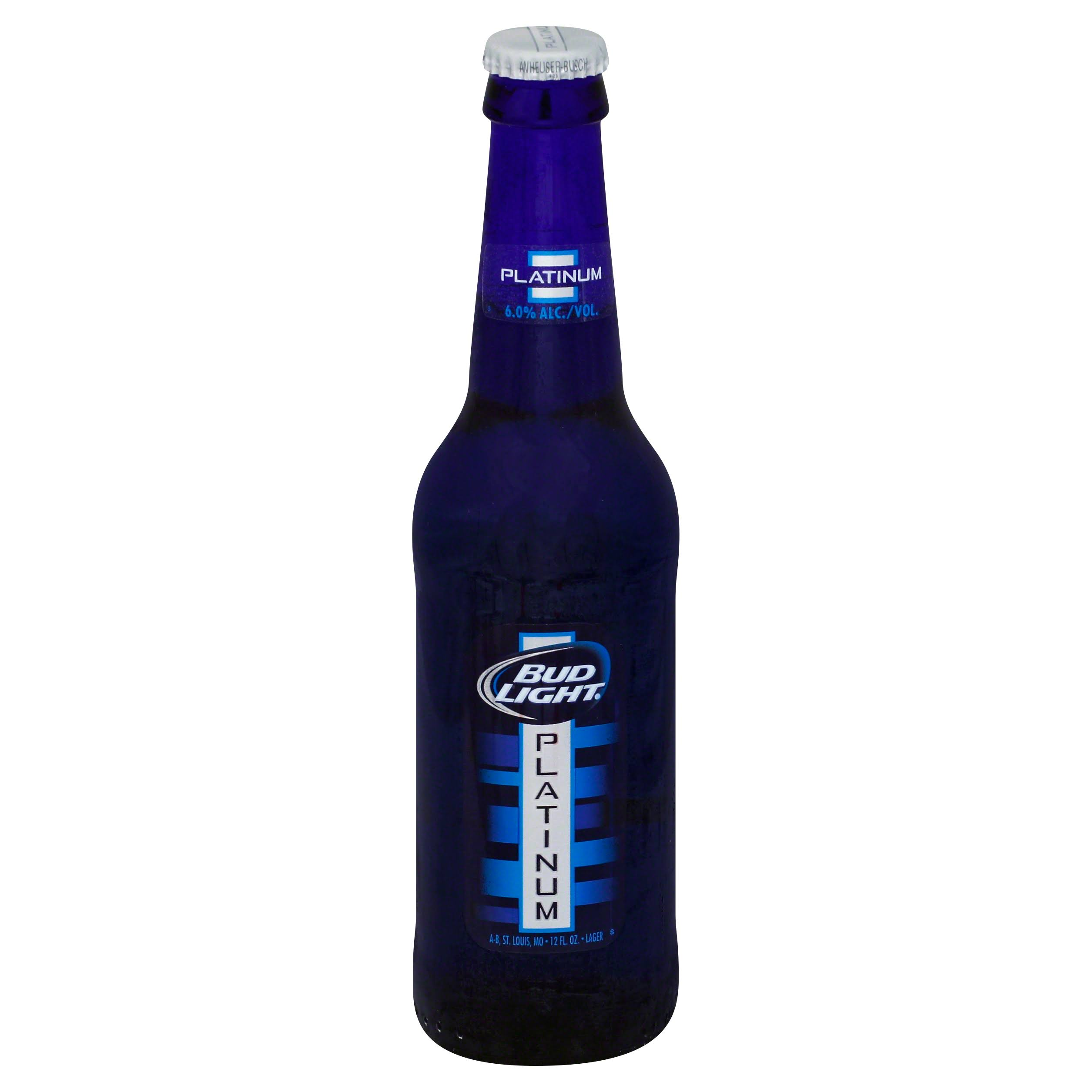 Bud Light Beer, Lager, Platinum - 12 fl oz