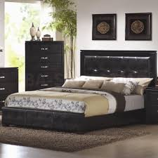 Black Leather Headboard King Size by Leather Headboard Bedroom Set 139 Stunning Decor With Black Sleigh