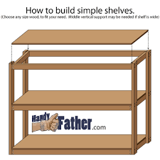 how to build simple shelves handy father