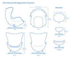Egg Chair & Footstool Dimensions & Drawings | Dimensions.Guide Modern Classic Plywood Zane Lounge Chair Ottoman With Spinal Sled Chairs Products Gillian Tufted Nordisk Helinox Nordiskeu Amazoncom Ckp Fashion Bar Front Desk Vitra Eames Cherry Tequila Sofa A Guide To Table Height Seat Heights Magis Spun Dimeions Drawings Dimeionsguide