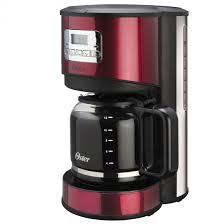 Oster Red Stainless Steel 12 Cup Programmable Coffee Maker