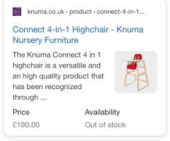 Knuma Connect 4 In 1 Highchair