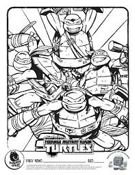 Teenage Mutant Ninja Turtles Leonardo Coloring Page Free Turtle